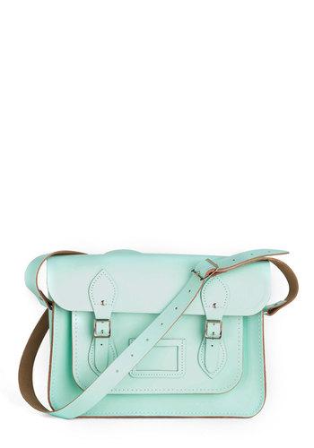 Cambridge Satchel Upwardly Mobile Satchel in Mint - 13 inch | Mod Retro Vintage Bags | ModCloth.com