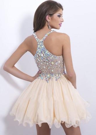 dress white dress creme dress razorback homecoming dress homecoming beautiful