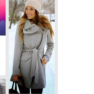 coat grey winter coat