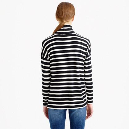 Oversize stripe turtleneck
