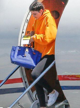 sweater hoodie leggings sweatshirt orange kylie jenner kardashians bag