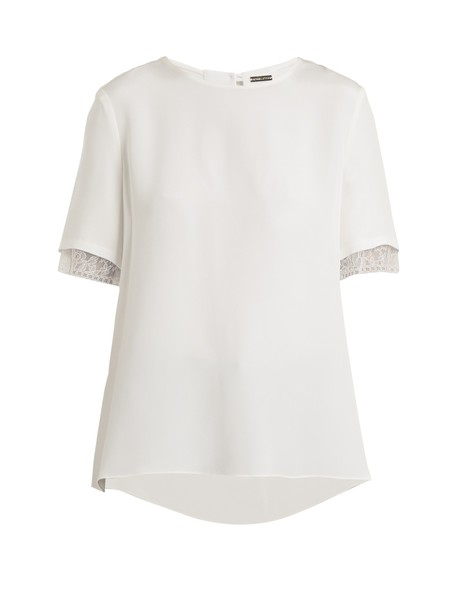 Adam Lippes top lace silk