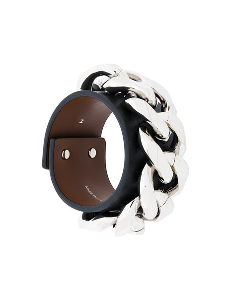 Givenchy cuff women thick cuff bracelet leather black jewels