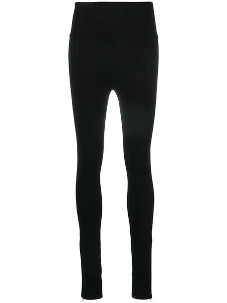 Helmut Lang leggings women spandex cotton black pants