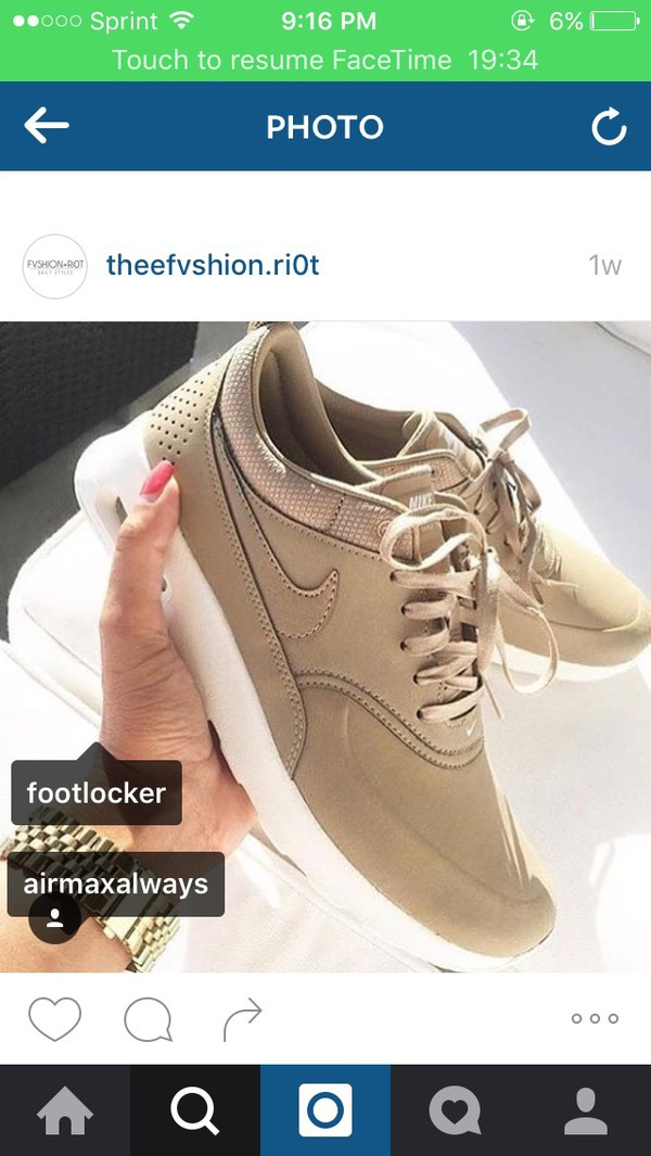 nike air max thea premium leather beige chair