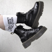 shoes,boots,chunky,black,socks,grunge,combat boots,pale,aesthetic,black boots,goth,black combat boots,it girl shop,white