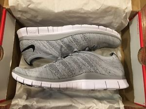 Nike Free Flyknit NSW 5.0 Wolf Grey Black White 599459 002 QS Running shoes