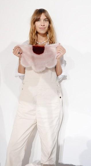 alexa chung fashion week 2014 pants overalls