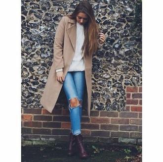 jacket long jacket beige jacket winter jacket trench coat jeans coat