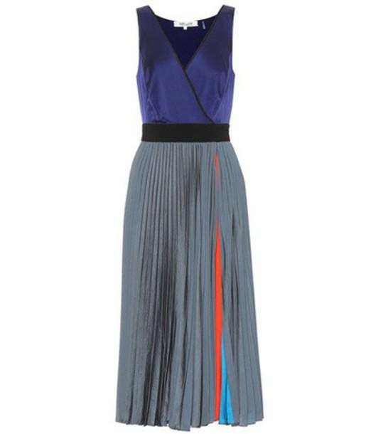 Diane Von Furstenberg dress midi dress sleeveless midi blue