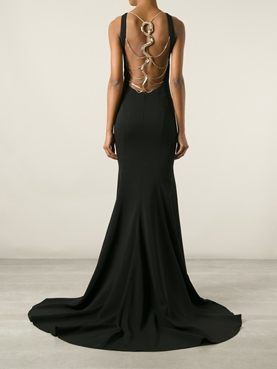 Roberto Cavalli Snake Strap Back Gown - Luisa World - Farfetch.com