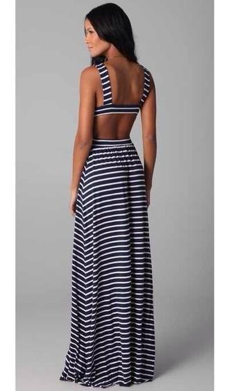 dress maxi dress maxi stripes striped dress summer dress summer summer outfits open back open back dresses black black and white black and white dress