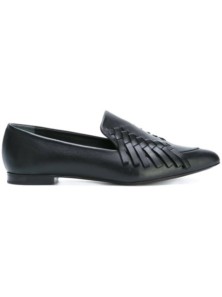 Proenza Schouler women loafers leather black shoes