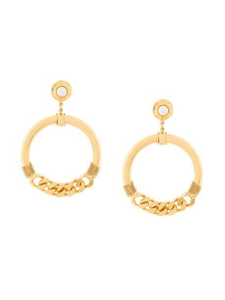 Gas Bijoux metal women pearl earrings gold grey metallic jewels