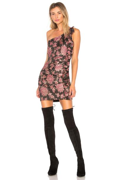 For Love & Lemons dress mini dress mini jacquard black