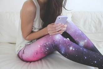 pants leggings universe cosmos nebula space sparkle shirt white shirt galaxy print galaxy leggings