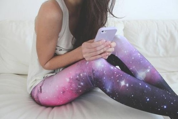 nebula galaxy pants legging universe cosmos space sparkle shirt white shirt leggings Galaxy galaxy leggings