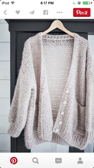cardigan cream cream cardigan cozy button up wool loose loose cardigan
