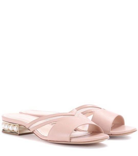 Nicholas Kirkwood sandals leather sandals leather pink shoes