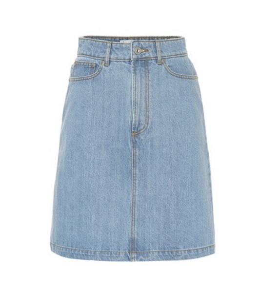 Être Cécile Denim skirt in blue
