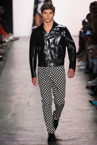 jacket pants polka dots menswear mens jacket jeremy scott ny fashion week 2016 runway