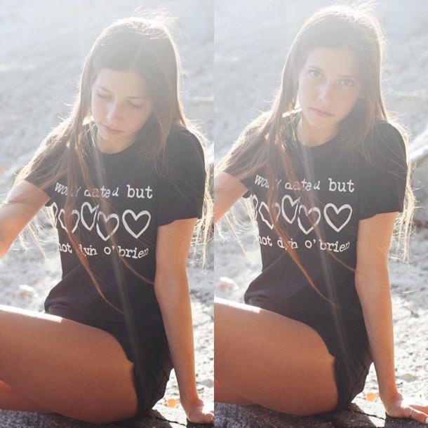 dylan o'brien black t-shirt shirt