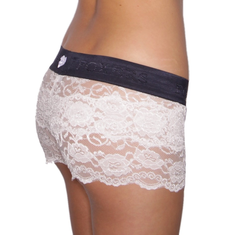 FOXERS -  Ivory Lace Boxers