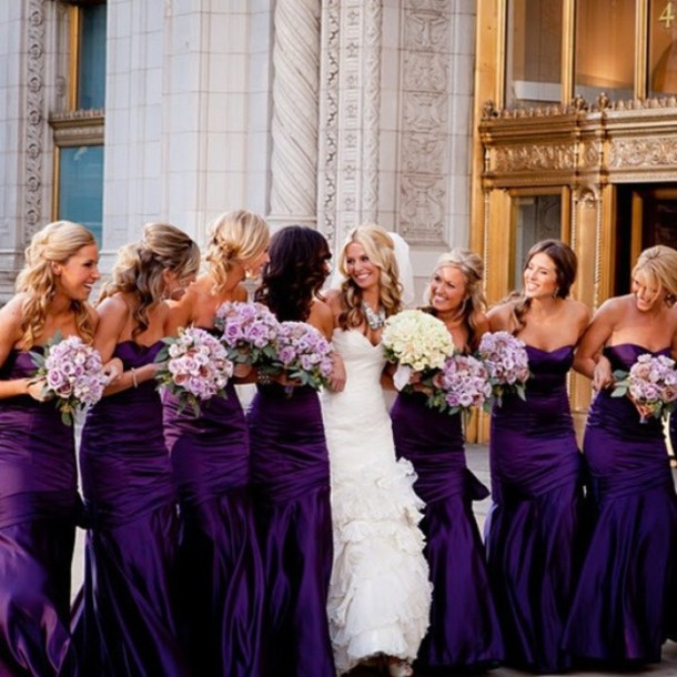 dress, bridesmaid, bridesmaid, wedding, bride, blue, purple, blue ...