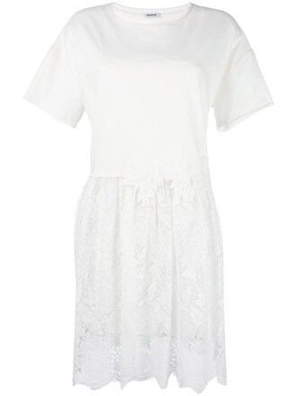 dress shirt dress t-shirt dress women spandex lace nude cotton
