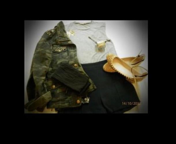 jacket clou militaire swag jolie tissu fin