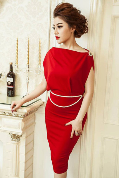 Dress: mini dress business clothes batwing dress party dress ...
