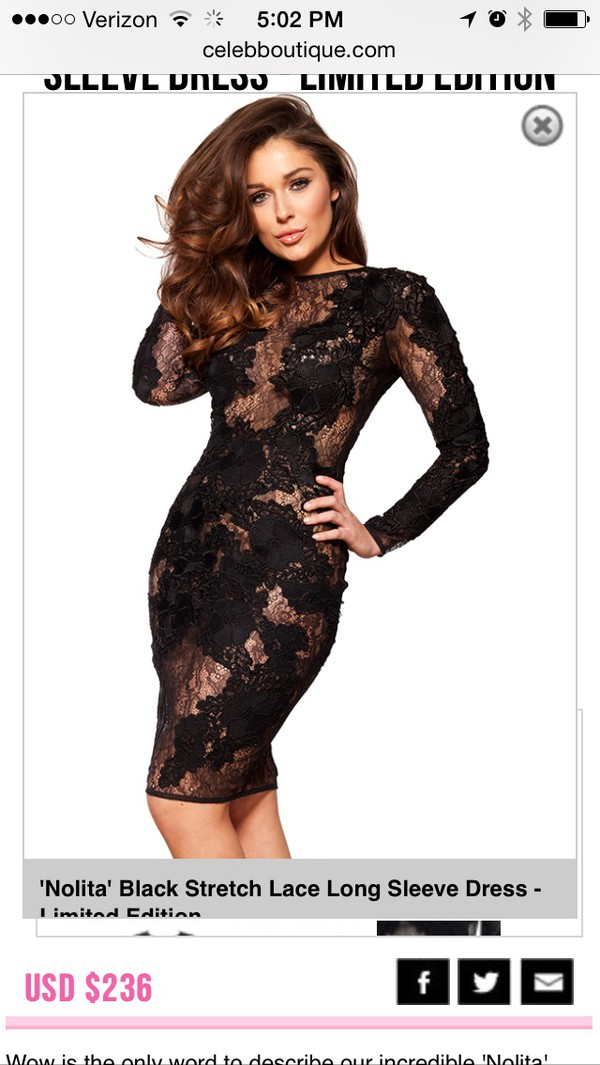 dress black lace dress midi dress