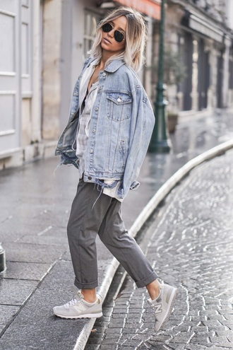 pants denim denim jacket jeans loose pants gert neutral