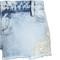 Light blue denim shorts with lace trim | tallyweijl