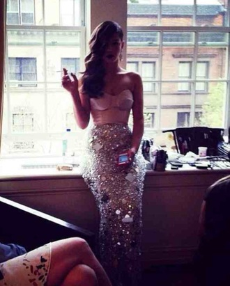 dress prom dress ball gown party dress sparkly sparky dress