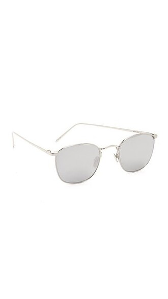 sunglasses mirrored sunglasses gold white
