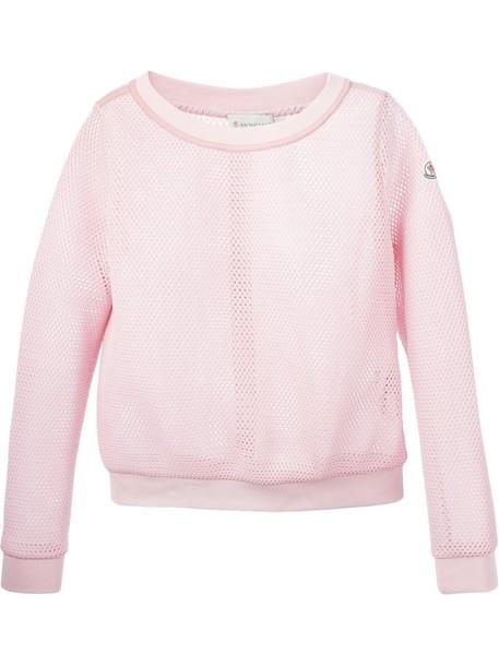 sweatshirt mesh purple pink sweater