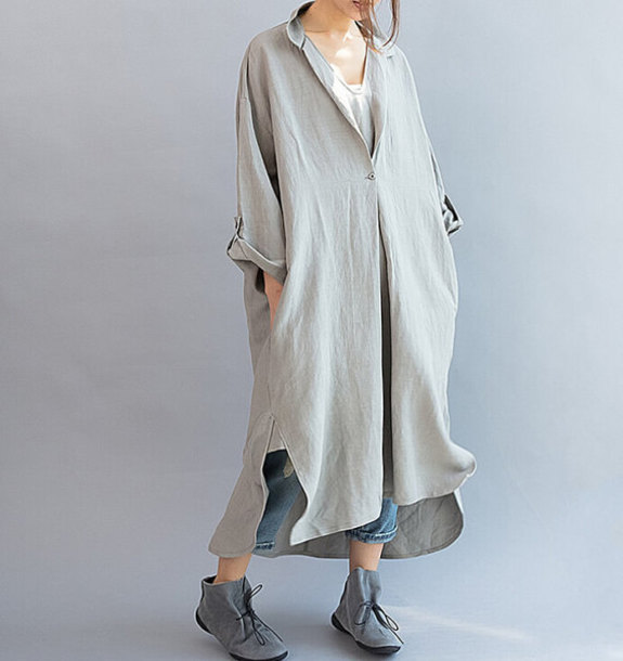dress gray oversized dress