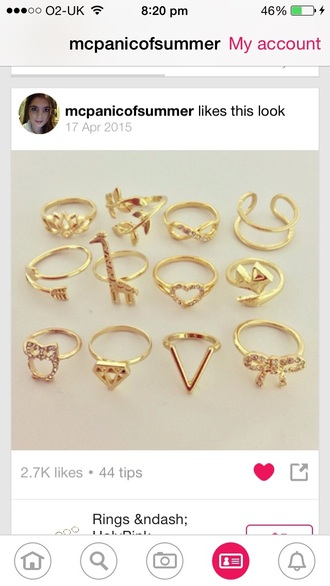jewels ring bow diamonds giraffes infinity fox love