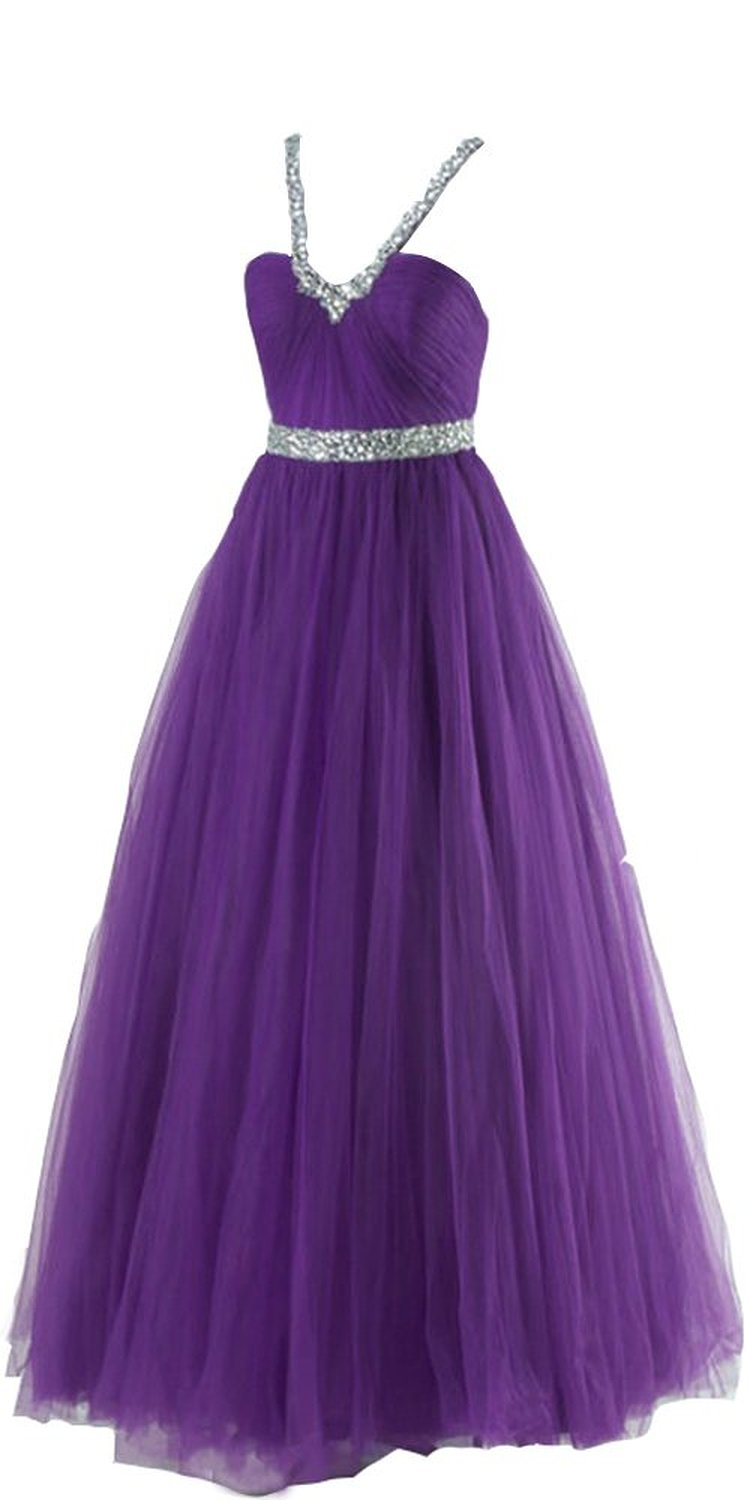 Amazon.com: Deep V-neck Open Back Long Tulle Princess Ball Gowns: Clothing