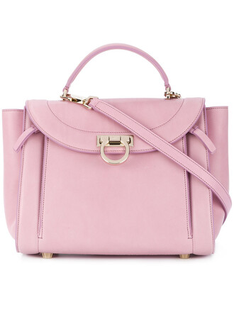 women bag tote bag leather purple pink