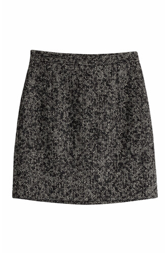 skirt mohair wool black