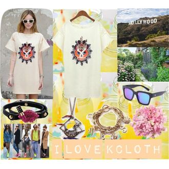 jewels t-shirt sunglasses owl tee kcloth owl printed