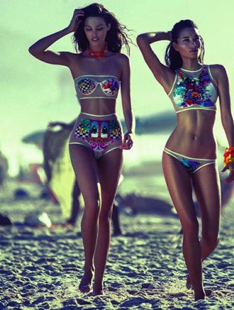 swimwear colorful see through bandeau sequins high neck high waisted mesh metallic floral floral bikini bright high waisted bikini mesh bikini fashion bikini neon seethrough underwear belt beach transparent print sexy summer crop fashion show verão