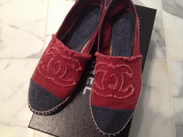 shoes, chanel espadrilles, women chanel