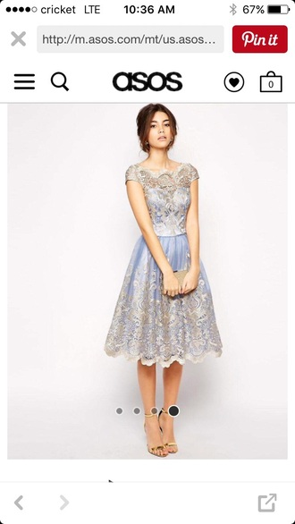 dress blue and silver dress