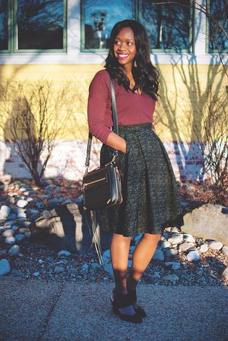 alicia tenise blogger skirt midi skirt leather bag