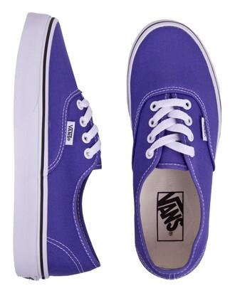 vans authentics shoes sneakers purple lo top lace up