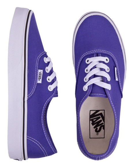 vans authentics shoes sneakers purple lo top lace up