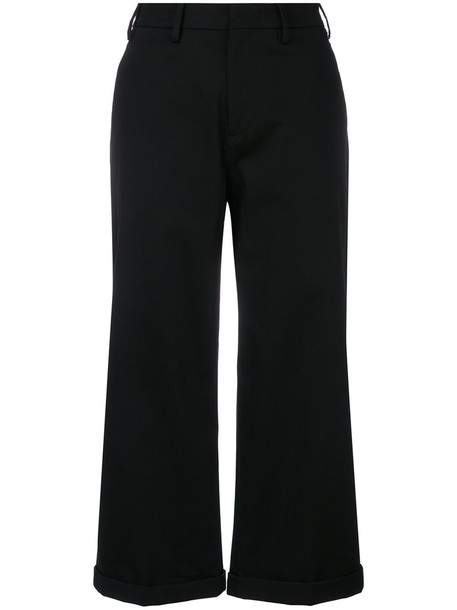 No21 cropped women spandex cotton black pants